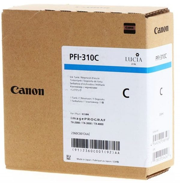 Canon PFI-310C ciánkék tintapatron